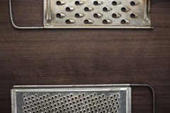 Natural aged old rusted grater Royalty Free Stock Photos