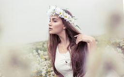 Natural alluring woman Royalty Free Stock Photos