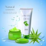 Natural Aloe Cream Background Stock Image