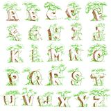 Natural Alphabet Royalty Free Stock Photography