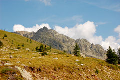 Natural alpine landscape of mountains Stock Images