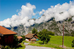 Natural alpine landscape of mountains Stock Image