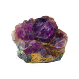 Natural amethyst crystallized structure Royalty Free Stock Images