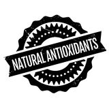 Natural antioxidants stamp Stock Photos
