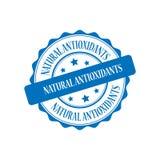 Natural antioxidants stamp illustration Royalty Free Stock Photos