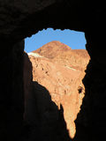 Natural Arch. In Death Valley national park in California viewed from Natural Bridge trail Royalty Free Stock Images