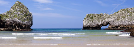 Natural arch (Bay of Biscay,Spain) Stock Photo