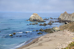Natural arch at California Pacific coast Royalty Free Stock Photo