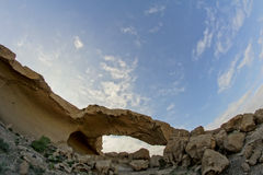 Natural Arch in the Desert Royalty Free Stock Photo