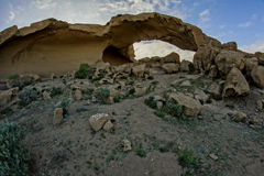 Natural Arch in the Desert Royalty Free Stock Images