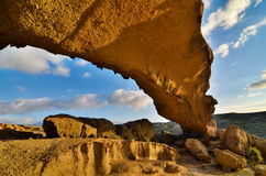 Natural Arch in the Desert Royalty Free Stock Photography