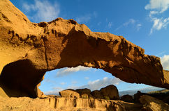 Natural Arch in the Desert Stock Photography