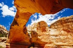 Natural Arch, Hickman Bridge, Capitol Reef National Park, Utah, Stock Images