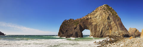 Natural arch on Izu Peninsula, Japan Royalty Free Stock Photography