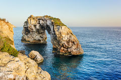 Natural arch in Mallorca Stock Images
