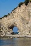 Natural arch in Palinuro, Italy Royalty Free Stock Photos