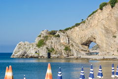 Natural arch in Palinuro, Italy Stock Photography