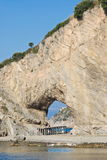 Natural arch in Palinuro, Italy Royalty Free Stock Photo