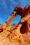 Dramatic Elephant Rock in Valley of Fire State Park, Nevada Stock Image