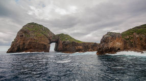 Natural Arch. Poor Knights Islands Royalty Free Stock Photos