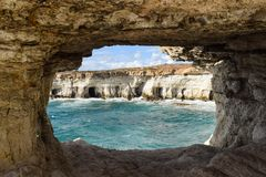 Natural Arch, Rock, Sea Cave, Formation Royalty Free Stock Photography