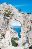 Natural arch in Sardinia Stock Photos
