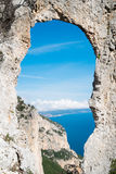 Natural arch in Sardinia Royalty Free Stock Photography