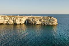 White cliffs of Tarkhankut royalty free stock photos