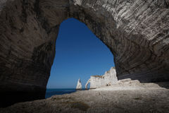 Natural arches of Etretat Stock Images