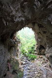 Natural archway at Jenolan Caves Royalty Free Stock Image