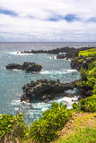 The natural arcs in Wai'Anapanapa coast, Maui Royalty Free Stock Photography