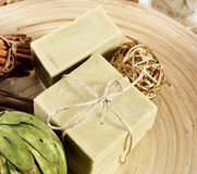 Natural Aromatherapy Artisanal Soap in a Spa Royalty Free Stock Photography