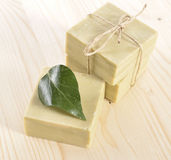 Natural Aromatherapy Artisanal Soap in a Spa Stock Image