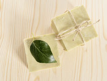 Natural Aromatherapy Artisanal Soap in a Spa Stock Images