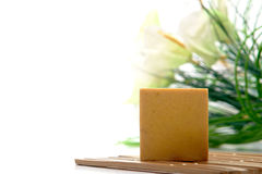 Natural Aromatherapy Bath Soap Bar stock images