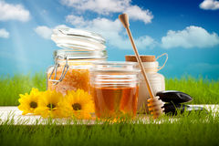 Natural aromatherapy - honey and flowers Stock Photos