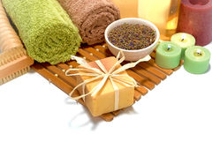 Natural Aromatherapy Soap and Spa Hygiene Products Royalty Free Stock Photo
