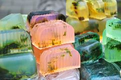 Natural aromatic soap. Assortment of natural aromatic handmade soap for sale Stock Photos