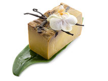 Natural aromatic  vanilla soap Royalty Free Stock Photos