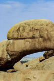 Natural array of bald granite outcrops and stone arch Spitzkoppe Royalty Free Stock Image