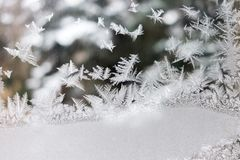 Natural art of the wintertime stock photo
