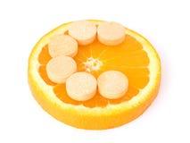 Natural or artificial c vitamin? Royalty Free Stock Photos