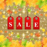 Natural autumn sale leafs Royalty Free Stock Photos
