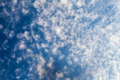 Sky covered in cirrus clouds Stock Images