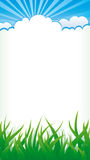 Natural background. Background with grass and clouds Royalty Free Stock Photos