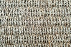 Natural background, basket of woven fiber rope royalty free stock image