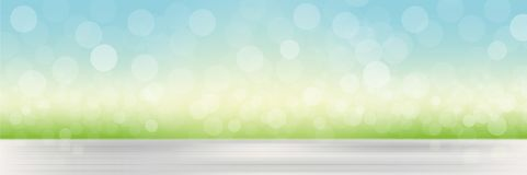 Natural background with blurred grass and sky vector illustration