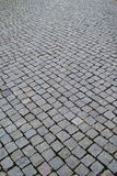 Natural background, cobblestone in a street. stock photography