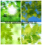 Natural background geometric set. All on different layers for easy using. Vector illustration Stock Photography