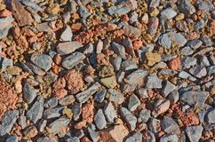 Natural background of gravel Royalty Free Stock Photography